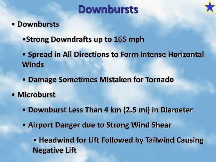 Downbursts