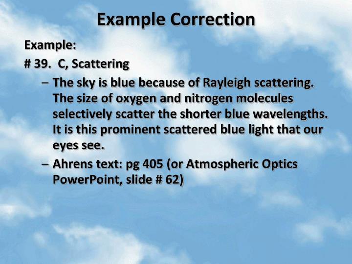 Example Correction