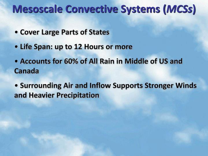 Mesoscale Convective Systems (