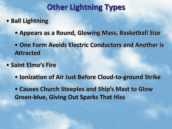 Other Lightning Types