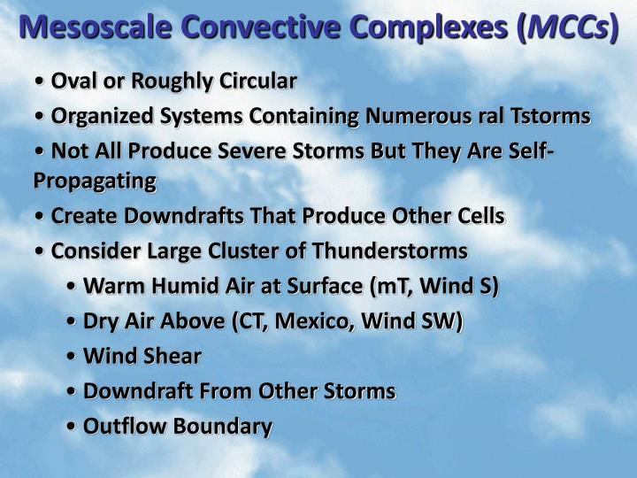 Mesoscale Convective Complexes (