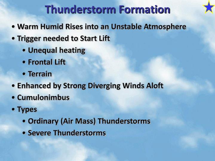 Thunderstorm Formation