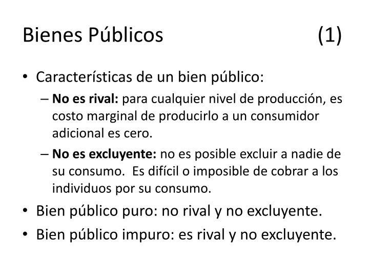Bienes Públicos(1)