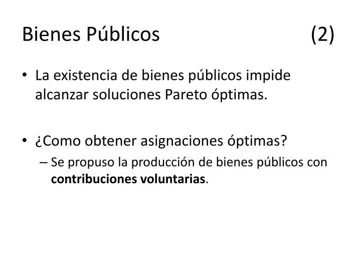 Bienes Públicos(2)