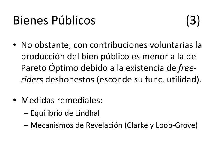 Bienes Públicos(3)
