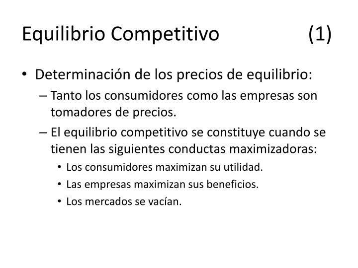Equilibrio Competitivo(1)