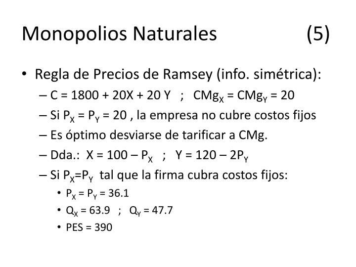 Monopolios Naturales(5)