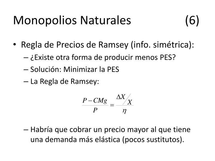 Monopolios Naturales(6)