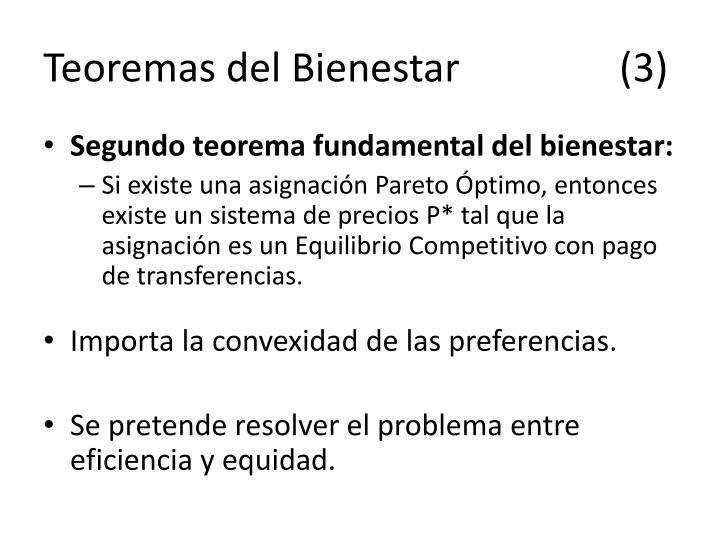 Teoremas del Bienestar(3)