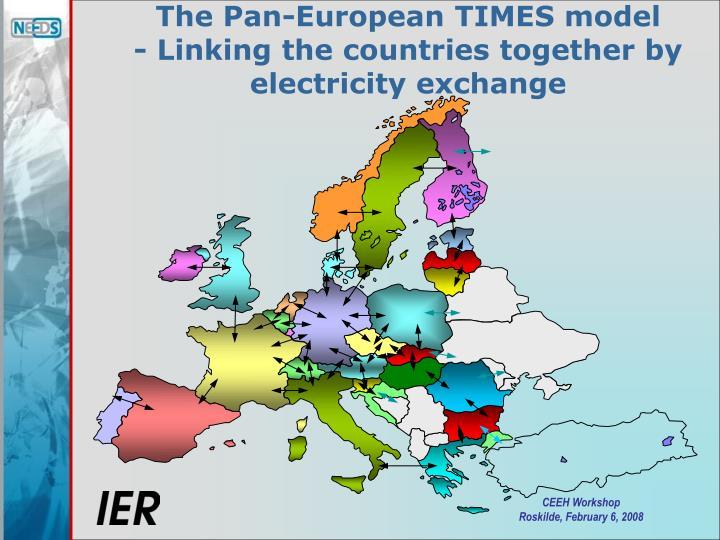 The Pan-European TIMES model