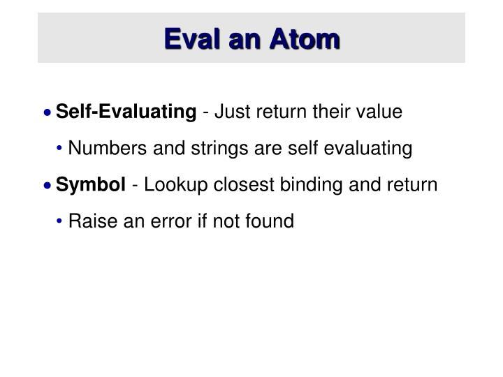 Eval an Atom