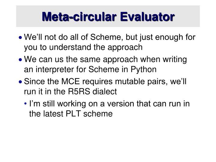Meta-circular Evaluator