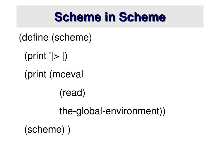 Scheme in Scheme
