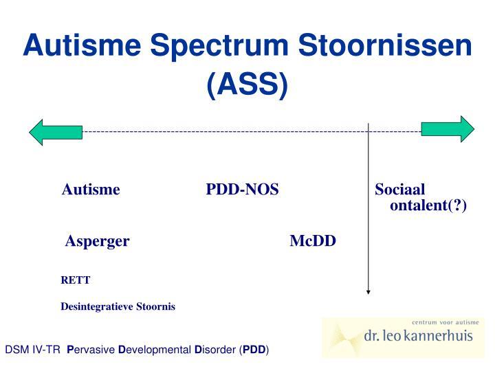 Autisme spectrum stoornissen ass