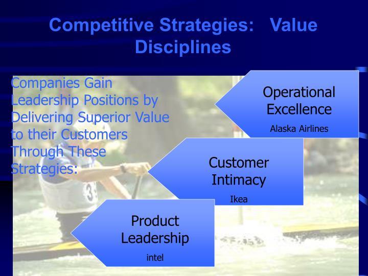 Competitive Strategies:   Value Disciplines