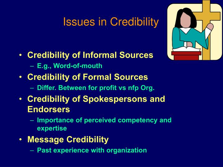 Issues in Credibility