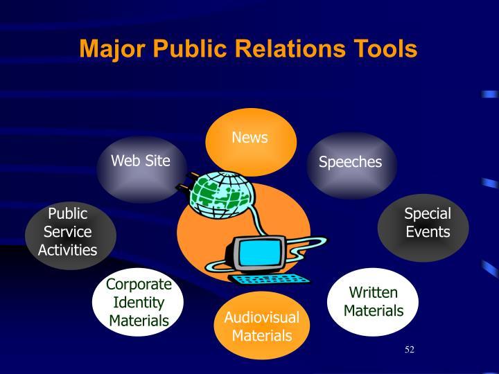 Major Public Relations Tools