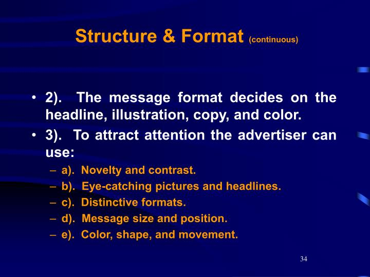 Structure & Format