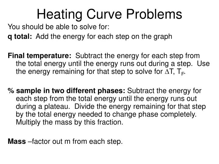 Heating Curve Problems