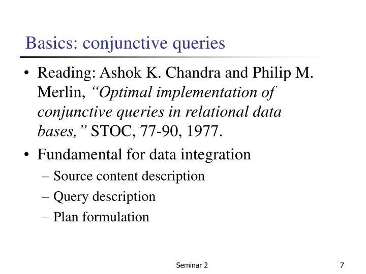 Basics: conjunctive queries