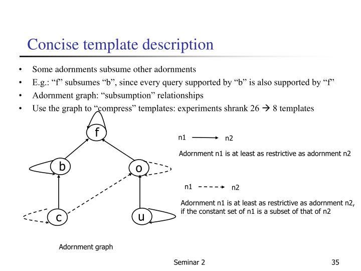 Concise template description