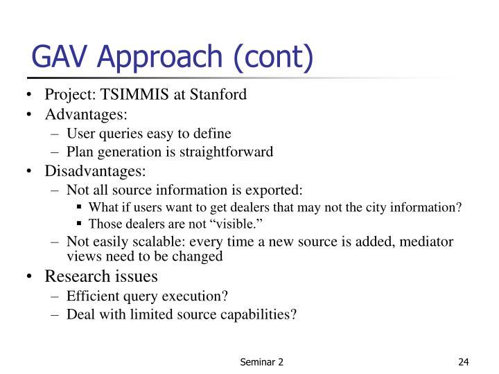 GAV Approach (cont)