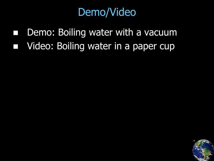 Demo/Video