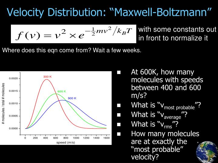 "Velocity Distribution: ""Maxwell-Boltzmann"""