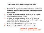conclusions de la m ta analyse de 2009