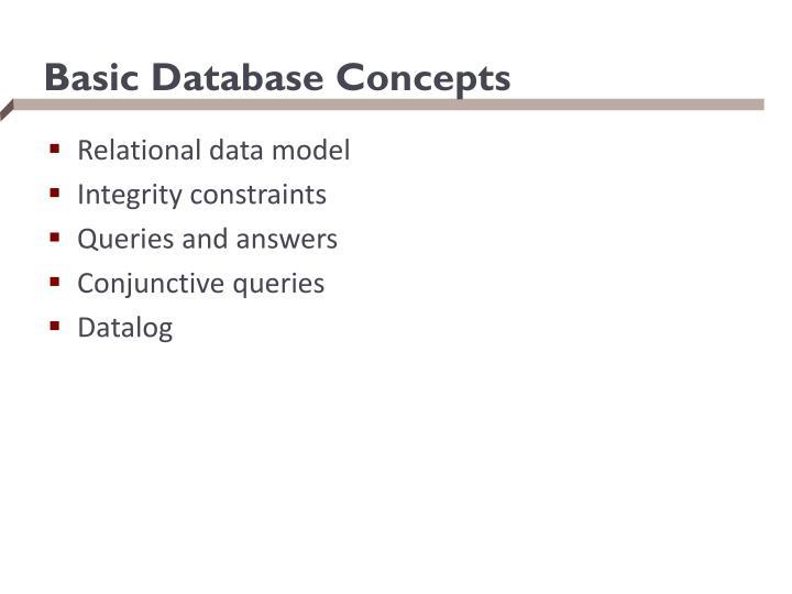 Basic Database Concepts