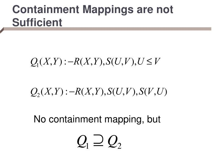 Containment Mappings are not Sufficient
