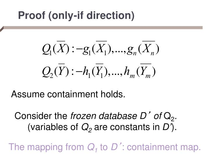 Proof (only-if direction)