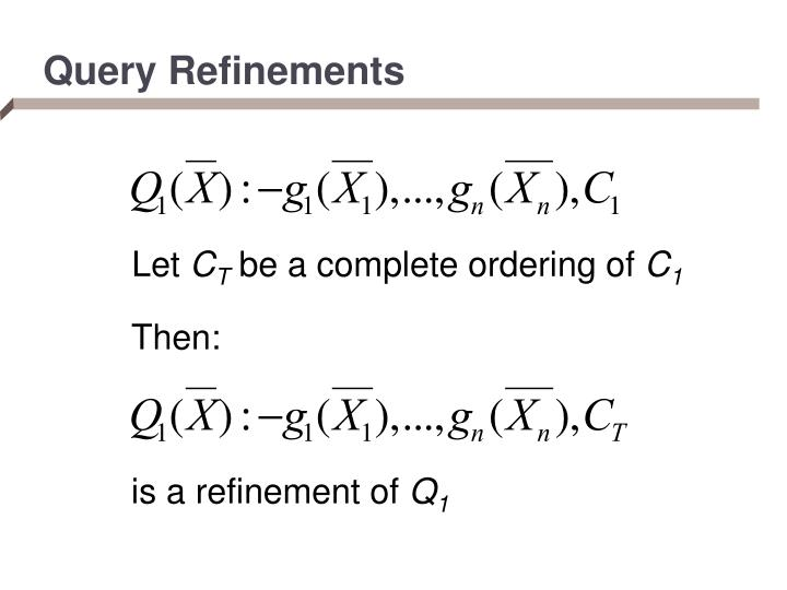 Query Refinements