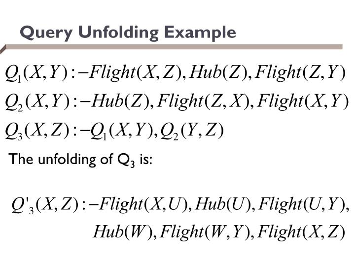 Query Unfolding Example