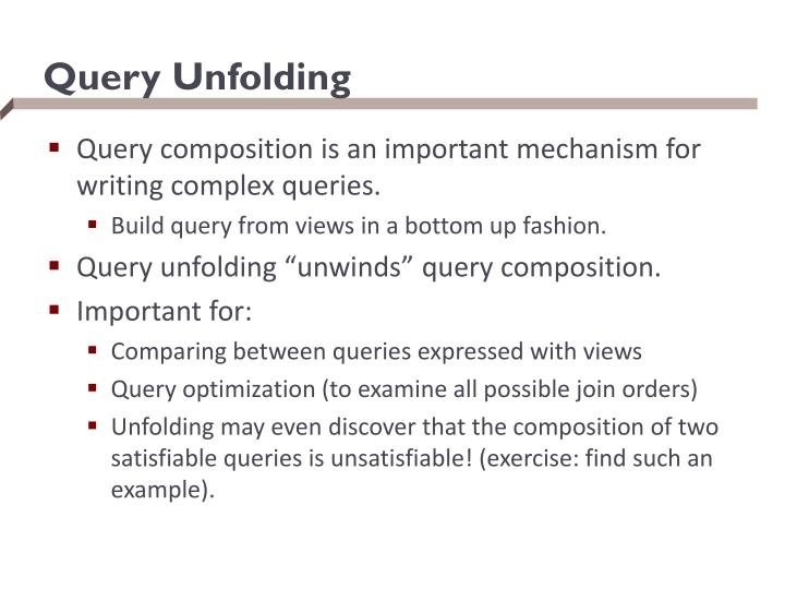 Query Unfolding