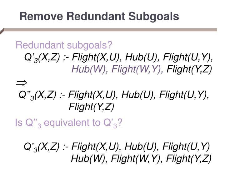 Remove Redundant