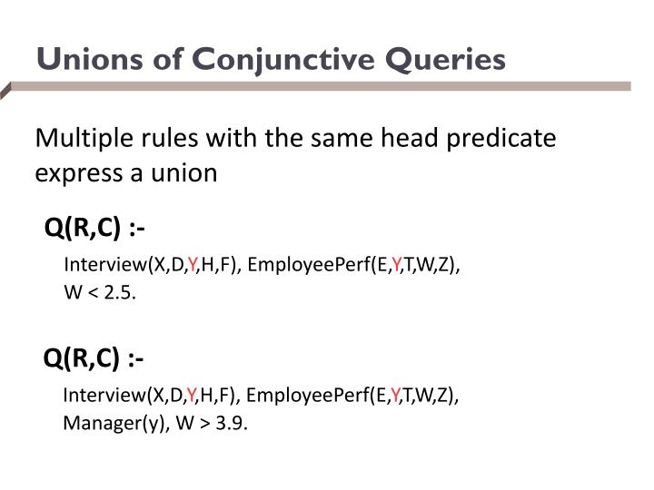 Unions of Conjunctive Queries