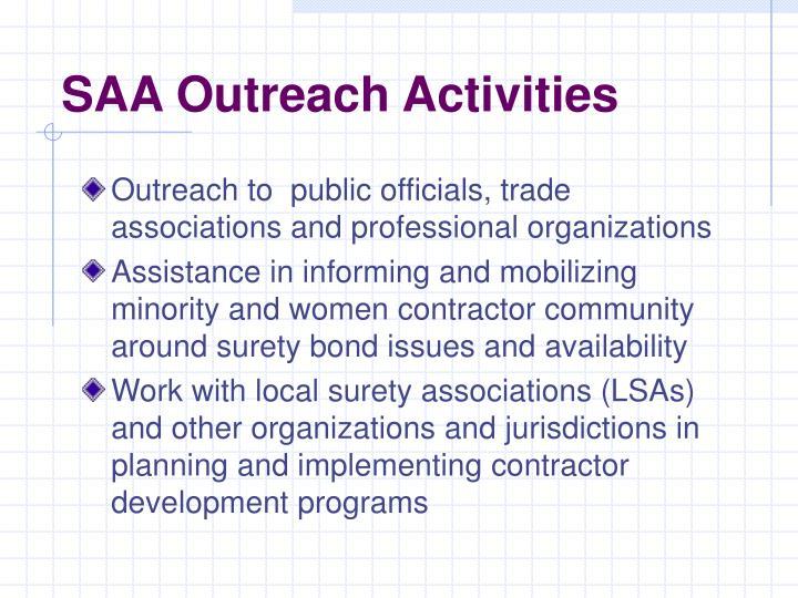 SAA Outreach Activities
