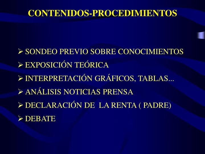 CONTENIDOS-PROCEDIMIENTOS