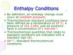 enthalpy conditions