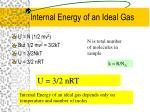 internal energy of an ideal gas