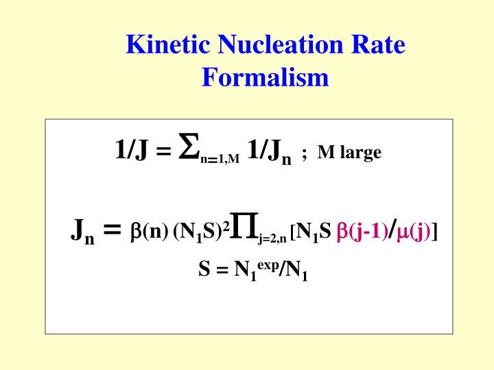 Kinetic Nucleation Rate