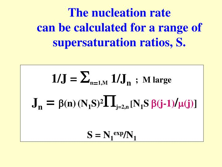 The nucleation rate