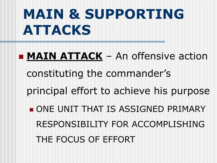 MAIN & SUPPORTING ATTACKS