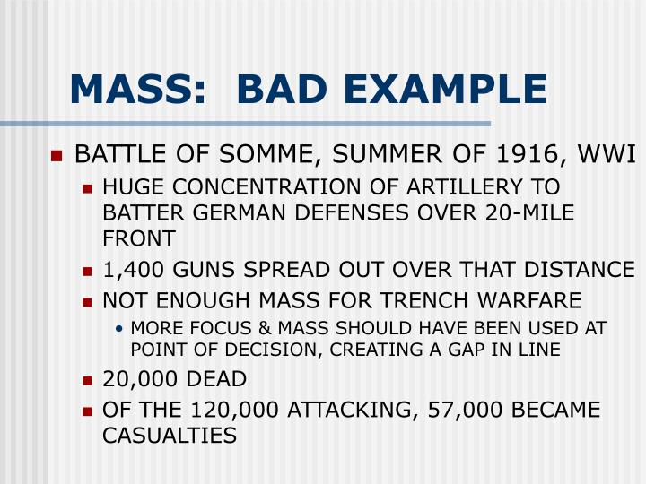 MASS:  BAD EXAMPLE