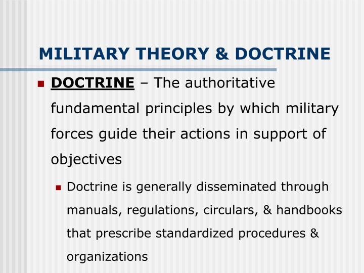 MILITARY THEORY & DOCTRINE