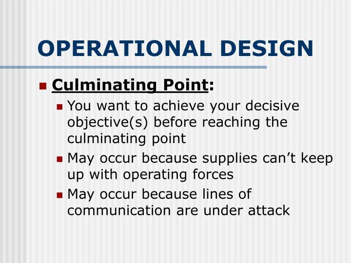 OPERATIONAL DESIGN