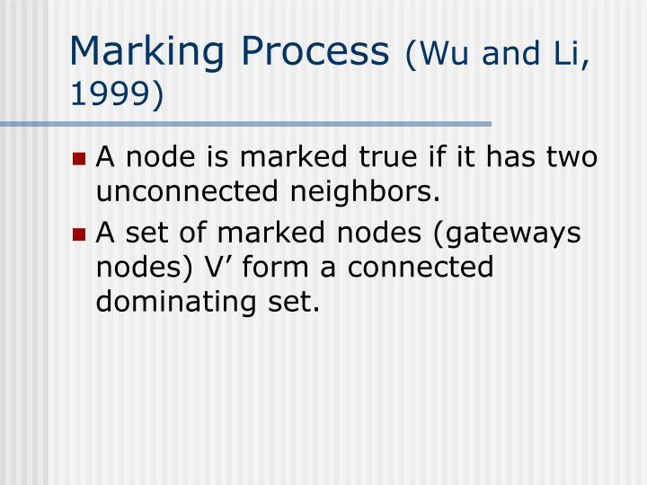 Marking Process