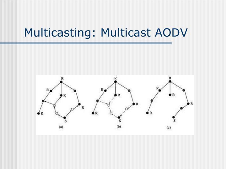 Multicasting: Multicast AODV