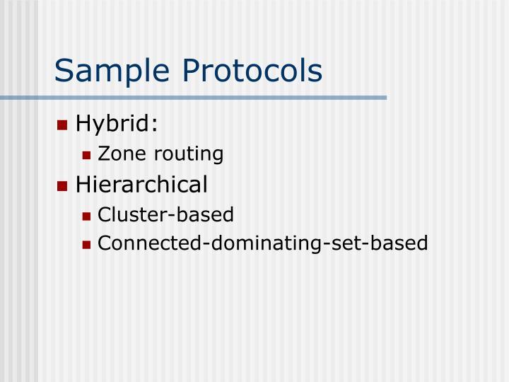 Sample Protocols